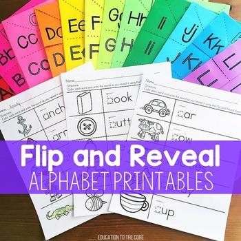 Alphabet Activities, Alphabet Flip and Reveal, Letter Recognition