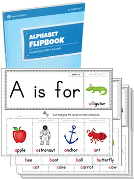 Alphabet Flipbook Activity Set PRINTABLE {COLOR+BW}