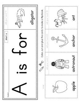photo regarding Printable Flip Book called Alphabet Flipbook Recreation Fastened PRINTABLE Coloration+BW