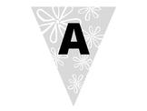 Alphabet Flower Pennant