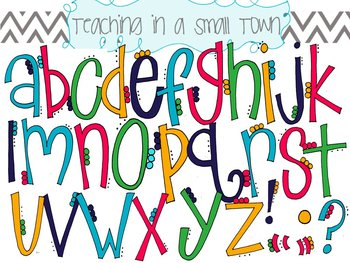 Flower Petals Alphabet Clip Art
