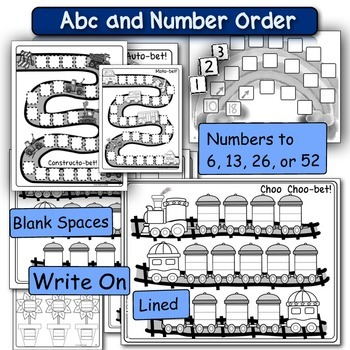 Alphabet and Number Fluency - FUN Cut & Paste Activities!