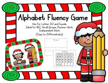 Alphabet Fluency Game {Christmas}; PreK, Kindergarten; First
