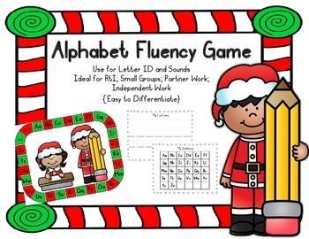 Alphabet Fluency Game {Christmas}; PreK, Kindergarten; First