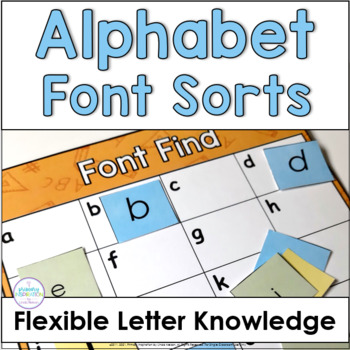 Alphabet Fluency - Literacy Center - Font Find