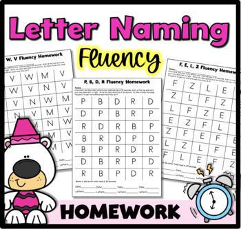 Alphabet Fluency Practice Pages