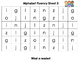 Alphabet Fluency Sheets
