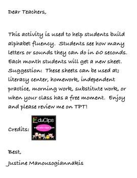 Alphabet Fluency_ Kindergarten Test Prep