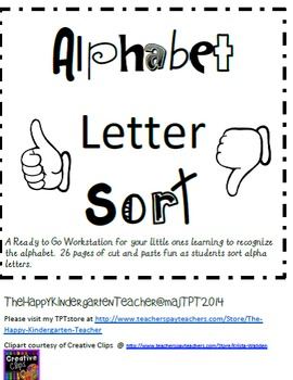 Alphabet Focus Letter Sort
