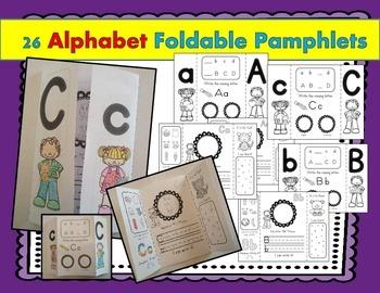 Alphabet Foldable Pamphlets! Simple & Fun Alphabet Activity (all letters)