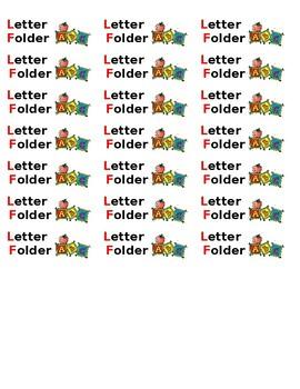 Alphabet Folder Labels
