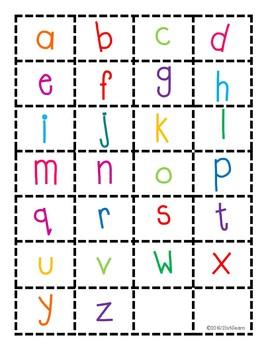 Alphabet Font Match Up
