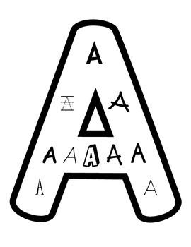 Alphabet Font Posters