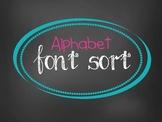 Alphabet Font Sort