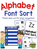 Alphabet Font Sort - Pocket Chart Activity