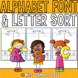 Alphabet Font Sort with Pictures