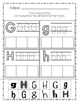 Alphabet Fonts Cut and Paste Activity - Saxon Phonics Order