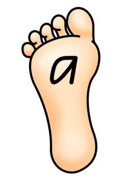 Alphabet Footprint Game - Australian Font