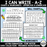 Alphabet Formation Charts & Worksheets (Uppercase/Lowercase, SPED, OT, SDC, SAI)