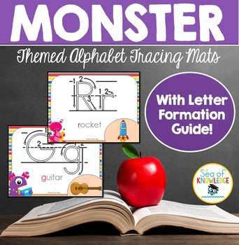 Alphabet Formation Mats Monster Themed