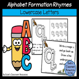 Alphabet Formation Rhymes - Lowercase Letters