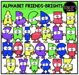 Alphabet Friends Brights Clip Art Bundle {Educlips Clipart}