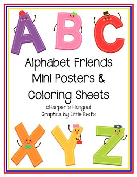 Alphabet Friends Mini Poster Set