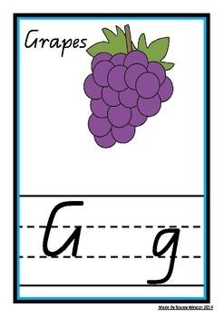 Alphabet Frieze / Charts - QLD Cursive