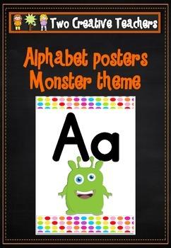 Alphabet Frieze Posters - Monsters Theme