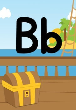 Alphabet Frieze Posters - Pirate Theme