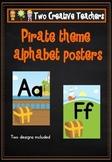 Alphabet Frieze Posters - Pirate Theme