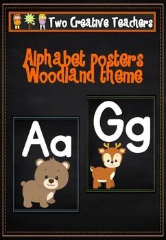 Alphabet Frieze Posters - Woodland Animals Theme