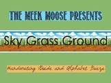 Alphabet Frieze - Sky Grass Ground