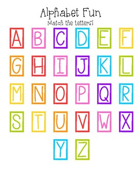 Alphabet Fun (Upper Case)