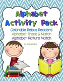 Alphabet Activities BUNDLE - Rebus Readers, Cut and Color, Matching, and MORE!