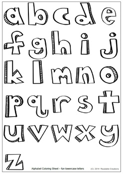 Alphabet Fun Coloring Sheet {Freebie}