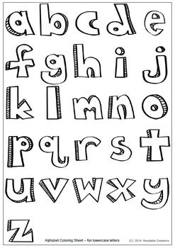 Alphabet Fun Coloring Sheet {Freebie}