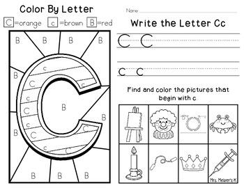 alphabet fun letter c by brittany melzer teachers pay teachers. Black Bedroom Furniture Sets. Home Design Ideas