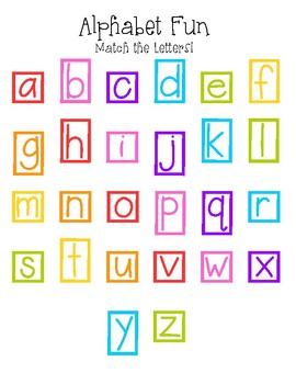 Alphabet Fun (Lower Case)