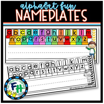 Alphabet Fun Nameplates {FREE}