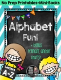 Alphabet Fun {No Prep Printables & Mini-Books}