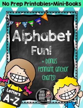 Alphabet Fun {No Prep Printables & Mini-Books}