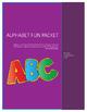 Alphabet Fun Packet