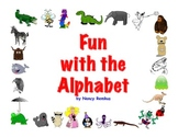 """Alphabet Fun""-Powerpoint-Learn Letter Names and Sounds-A Great Morning Warm-Up!"