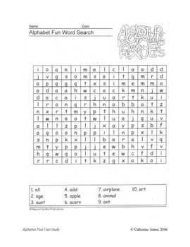 Alphabet Fun Study