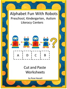 Alphabet Uppercase Lowercase Matching No Prep Cut and Past