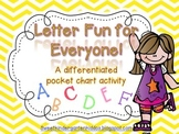 Letter Fun for Everyone: Differentiated Alphabet Pocket Ch