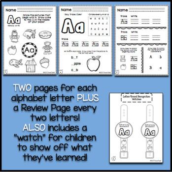 Alphabet Fun for Kindergarten - Over 90 Phonics Worksheets