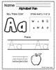Alphabet Fun for Pre-Kindergarten PreK Sampler FREEBIE