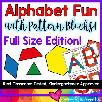 Beginning of the Year Alphabet Fun with Pattern Blocks-- FULL SIZED EDITION!